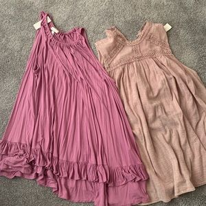 Lot of 2 Anthropologie tunics size L by Erin + Ali